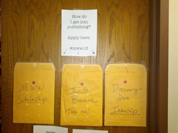 You can also grab applications off my office door, 266 Robert Bell!